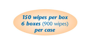 150 wipes per box- 6 boxes (900) towels per case