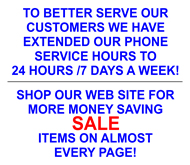 SALE & Extended Hours!!